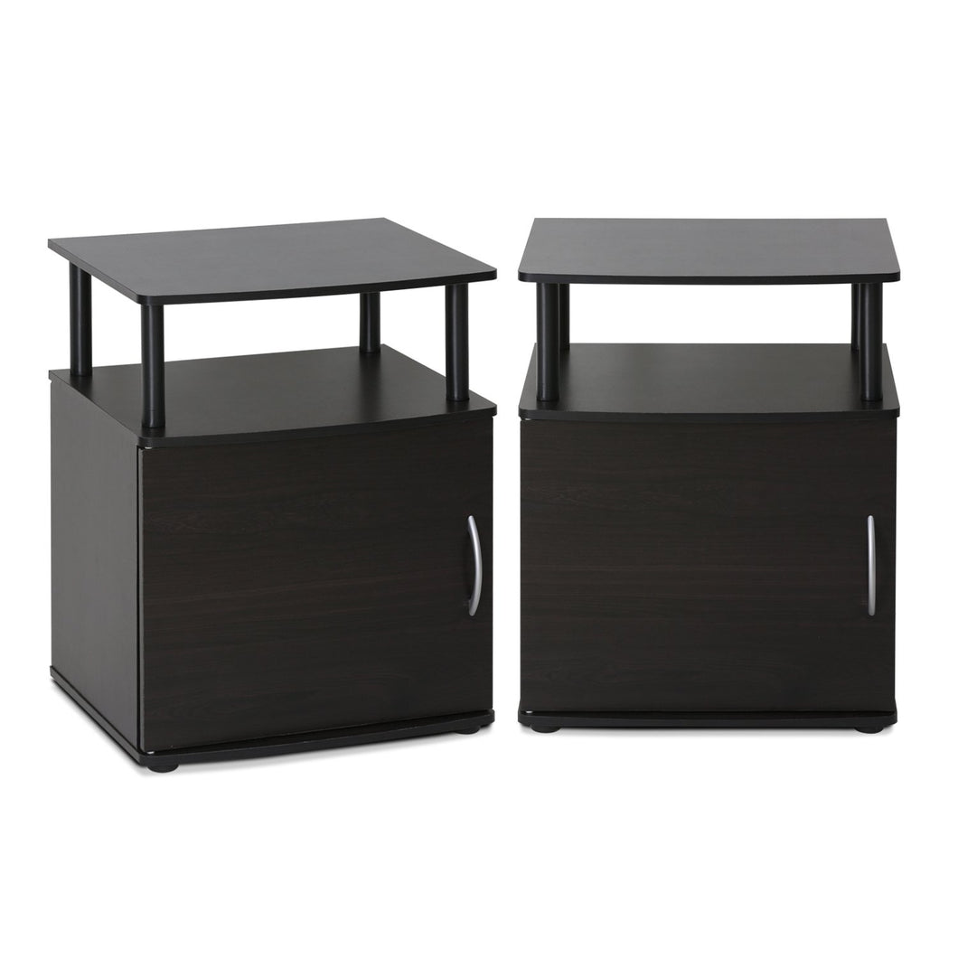 Furinno End Table 2-15114BKW SET OF 2