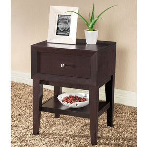 Baxton Studio Gaston Modern Accent Table and Nightstand, Brown