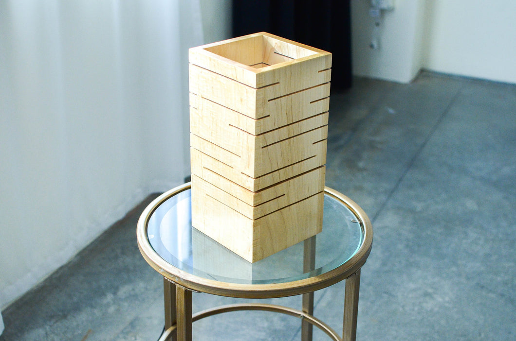 Modern Wood Slot Lamp