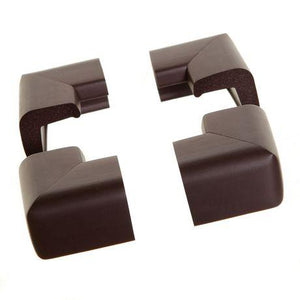 Dreambaby Classic Foam Corner Bumpers 4pk Brown