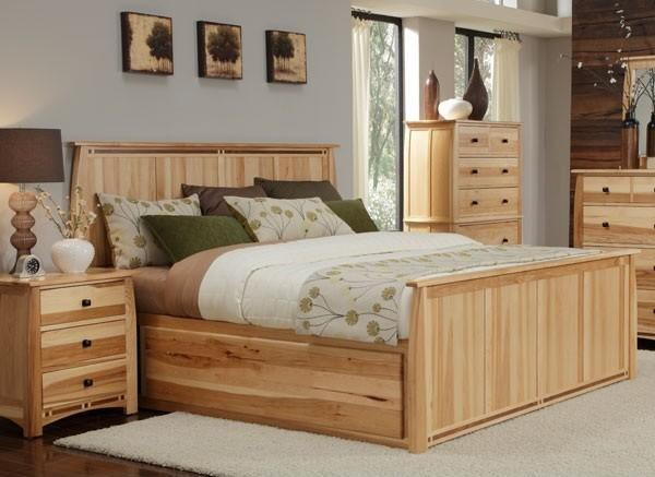 Adamstown 4 Piece Bedroom Set with King Sized Storage Bed, Dresser, Mirror, and Nightstand