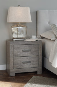 Colvern Casual Gray Color Two Drawer Night Stand
