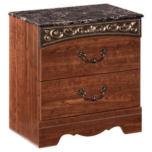 Fairbrooks Estate Reddish Brown Two Drawer Night Stand