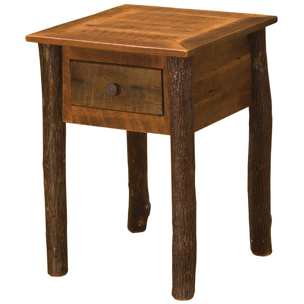 Barnwood One Drawer Nightstand