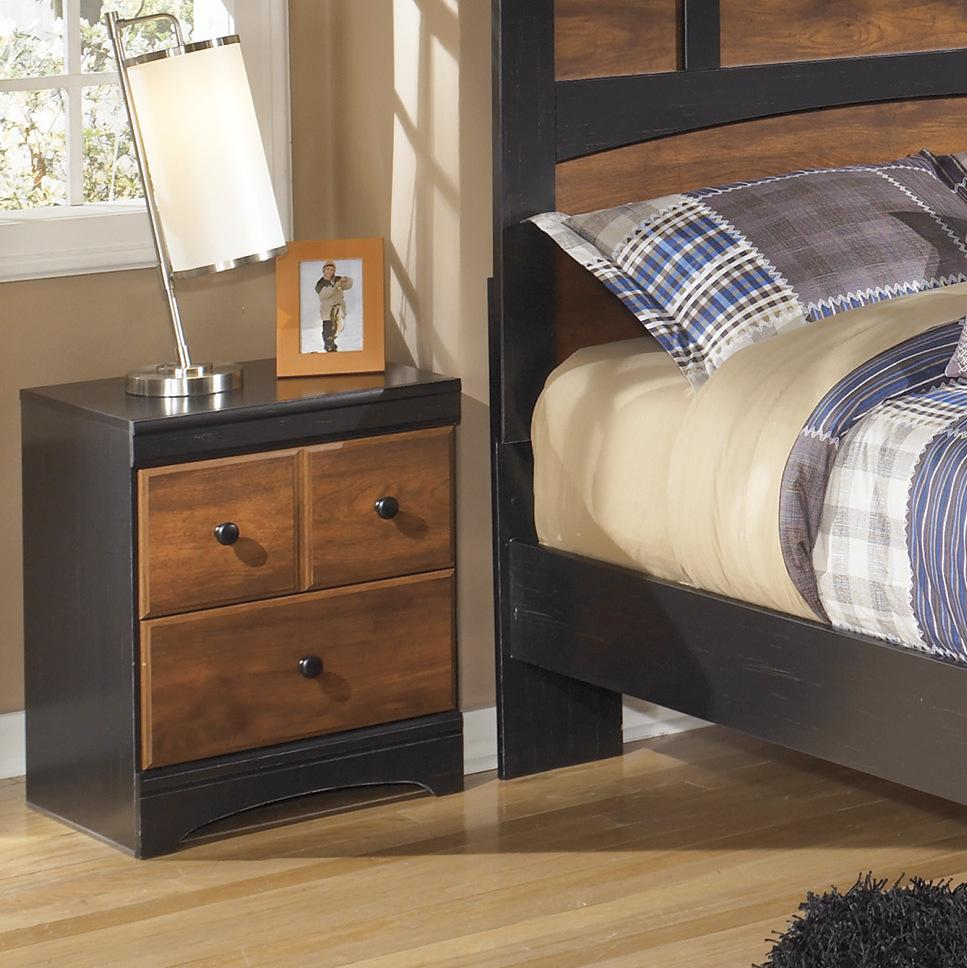 Airwell Casual Dark Brown Color Two Drawer Night Stand