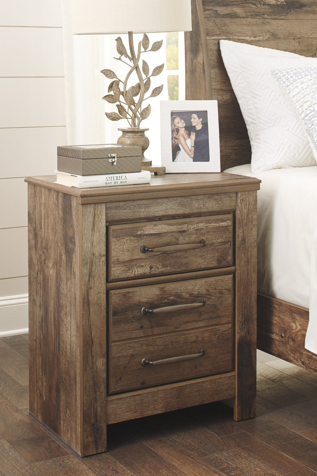 Blavilla Casual Brown Two Drawer Night Stand