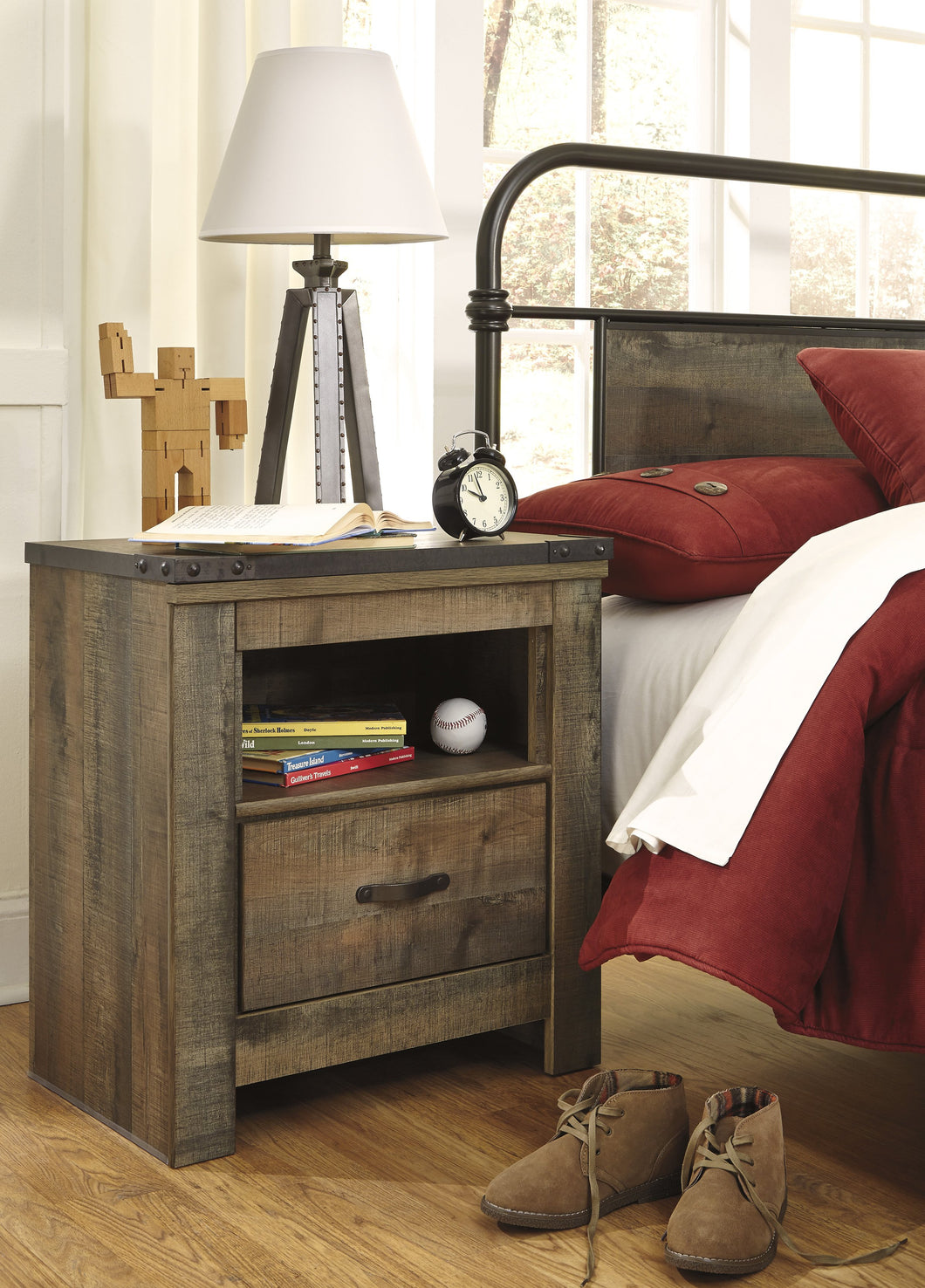 Cremona Brown Casual One Drawer Night Stand