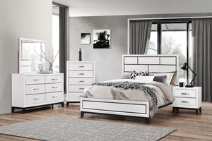 Akerson White 5 Piece King Bedroom Set