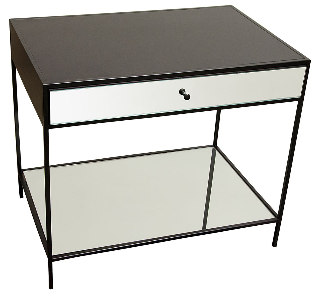 CFC Mallory Nightstand, Steel/Mirror