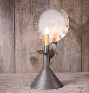 COLONIAL CONE CABIN LAMP - Crimped Tin Accent Light in Antique Tin Finish