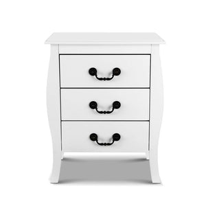 Artiss Bedside Tables 3 drawers Storage Nightstand Side Chest Cabinet Lamp Unit
