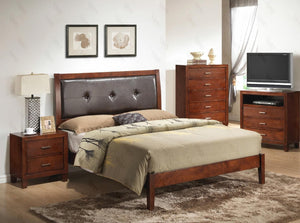 G1200AKBNTV 3 Piece Set including King Bed, Nightstand and Media Chest in Cherry
