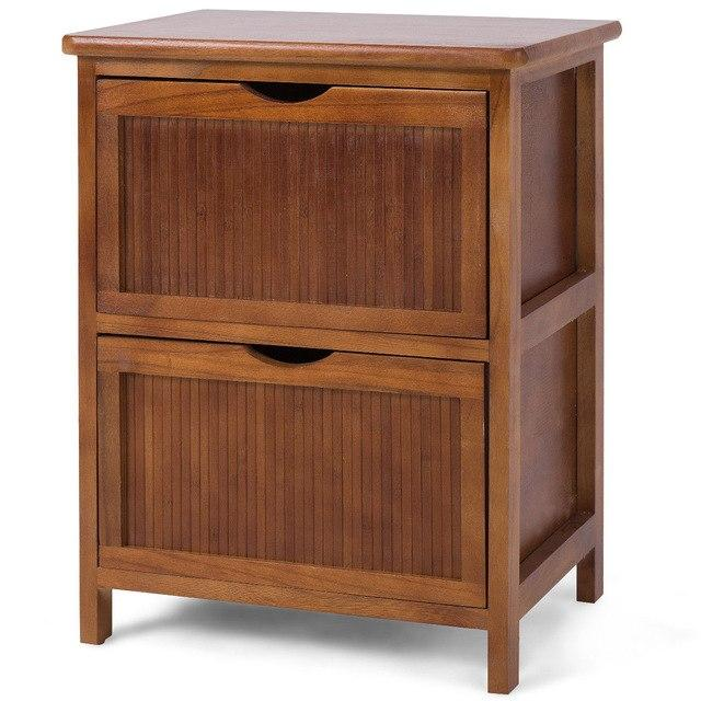 2 Drawers Nightstand