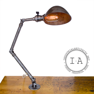 Vintage Industrial Ajusco Articulating Lamp Wall Table Work Shop Adjustable Arm