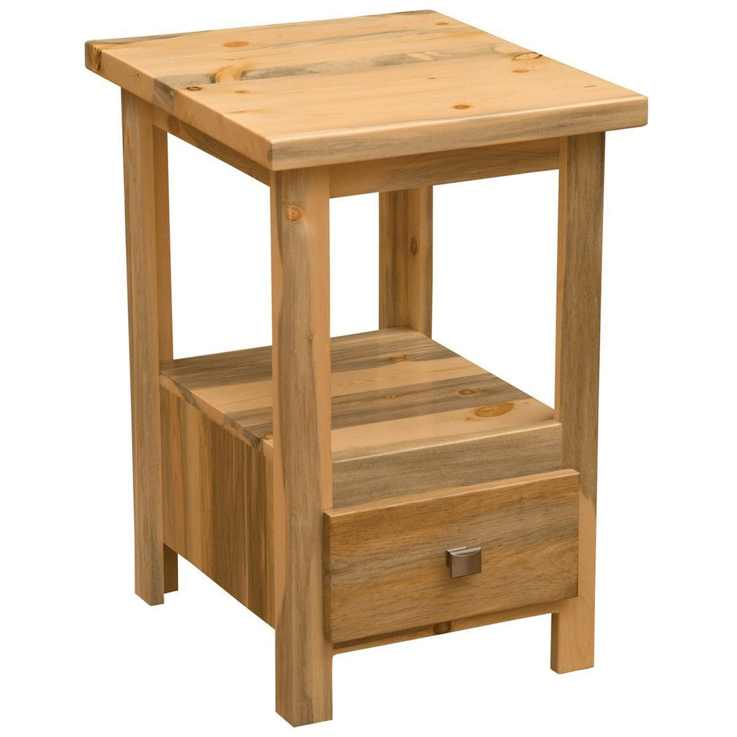 Blue Stain Pine Cubby Nightstand