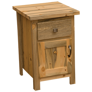 Blue Stain Pine Enclosed Nightstand