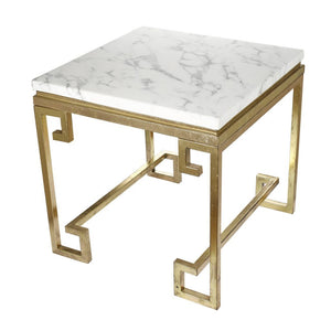 A&B Home White Marble End Tables
