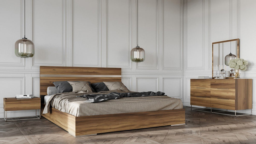 Modern Light Oak Eastern King Bedroom Set