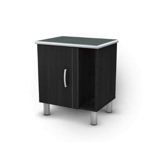 Black Onyx Nightstand with 1 Door & 1 Adjustable Shelf