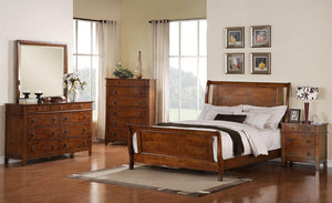 Phoenix Collection SS-TS755-K-BED-SET 5 Piece Bedroom Set with King Size Bed + Dresser + Mirror + Chest + Nightstand