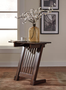 Brauni Casual Dark Brown wood Chair Side End Table