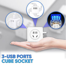 Load image into Gallery viewer, 3-USB Ports Cube Socket