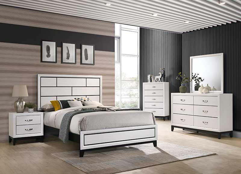 Akerson White 5 Piece Queen Bedroom Set