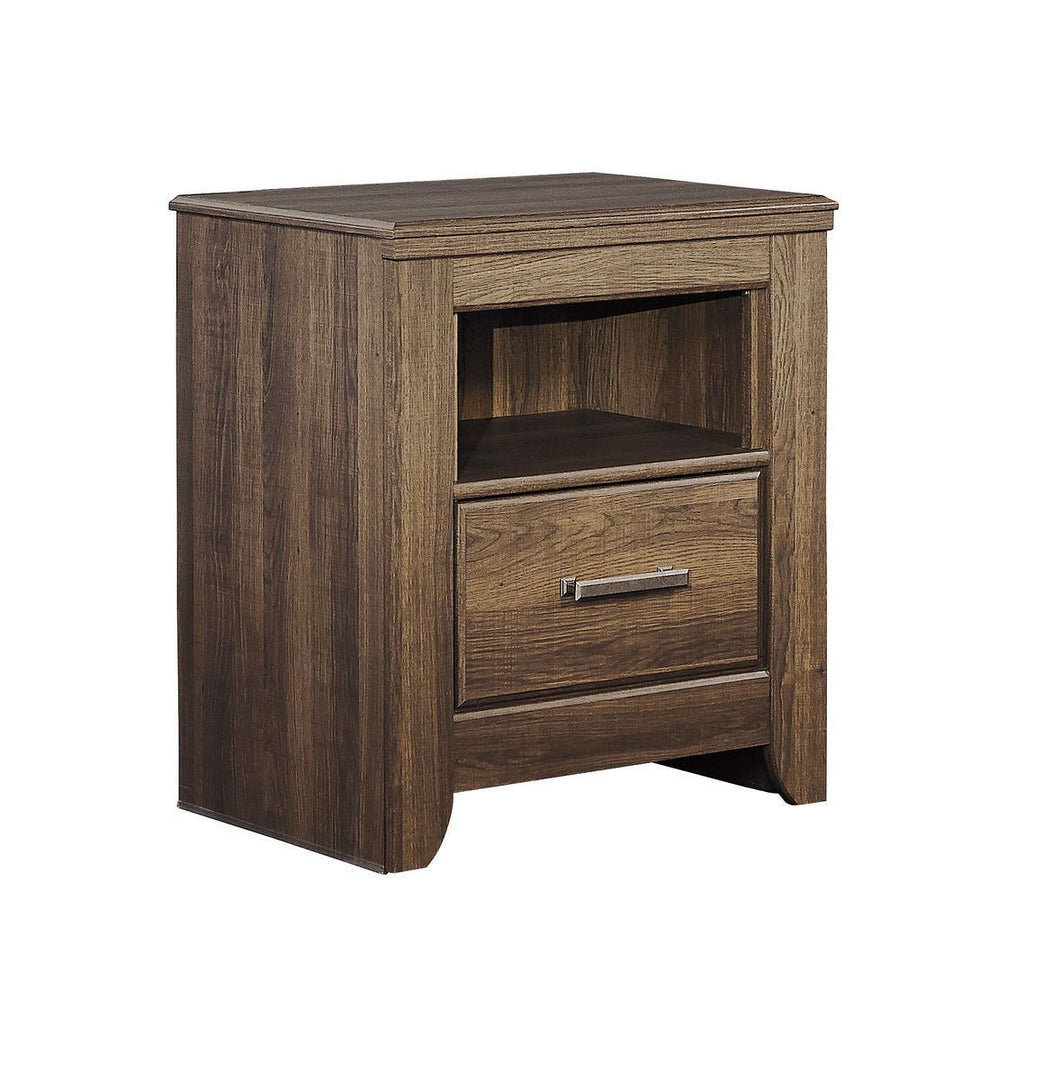 Juararo Dark Brown One Drawer Night Stand