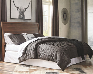 Daneston Brown/Graphite King Panel Bed