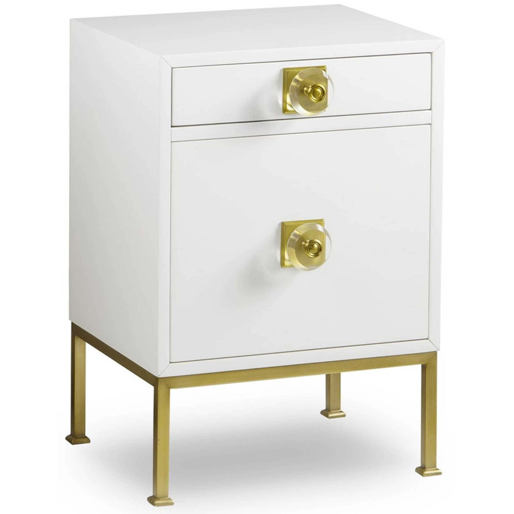 Formal Nightstand, White