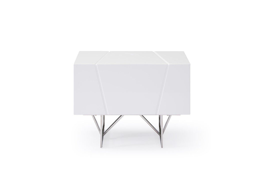 Modrest Chrysler Modern White Nightstand