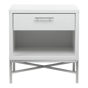 Moe's Contemporary Modern Kriss Side Table, White