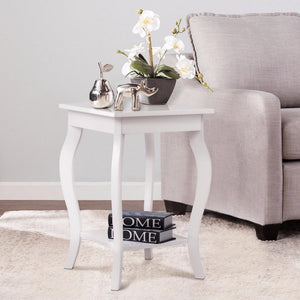 Modern Vintage End Table with Shelf