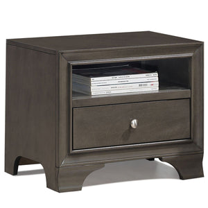 Nightstand Sofa Side Table End Table Storage Drawer -Gray
