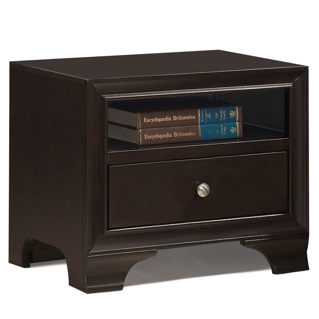 Nightstand Sofa Side Table End Table Storage Drawer -Brown