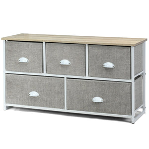 Dresser Storage Unit Side Table Display Organizer Dorm Room Wood-White