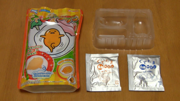 Gudetama DIY Pudding Kit Contents