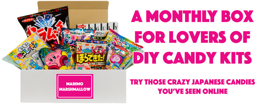 a monthly subscription box for lovers of Japanese DIY candy kits from Japan
