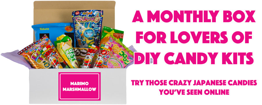 a monthly subscription box for lovers of DIY candy kits from Japan