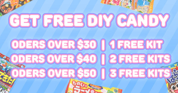 get free diy candy kits for orders over $30, $40 and $50