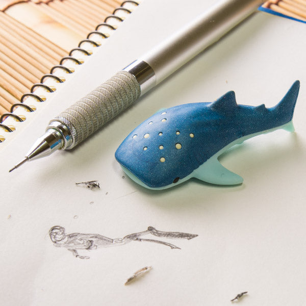 whale shark eraser from Iwako