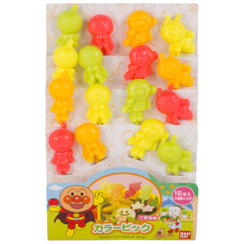 Colorful Anpanman Picks - Marimo Marshmallow Store