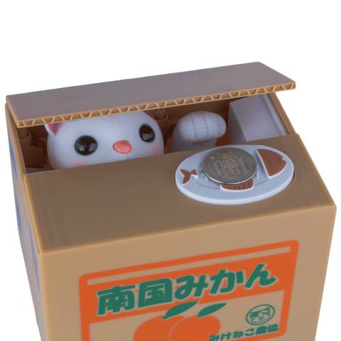 Itazura Cat Coin Bank - Calico Cat