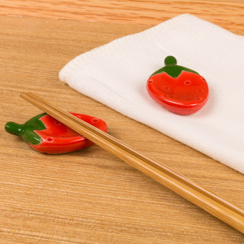 Red Strawberry Chopstick Rests - Marimo Marshmallow Store
