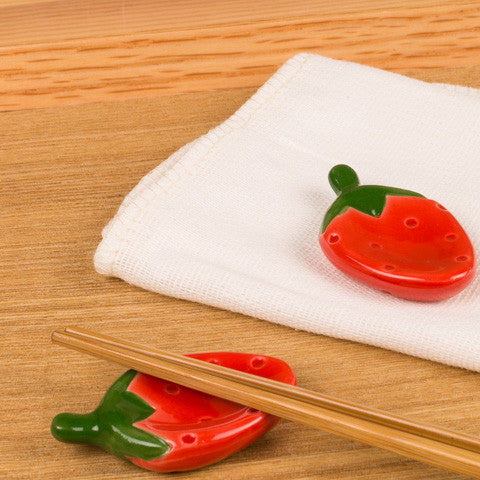 Red Strawberry Chopstick Rests