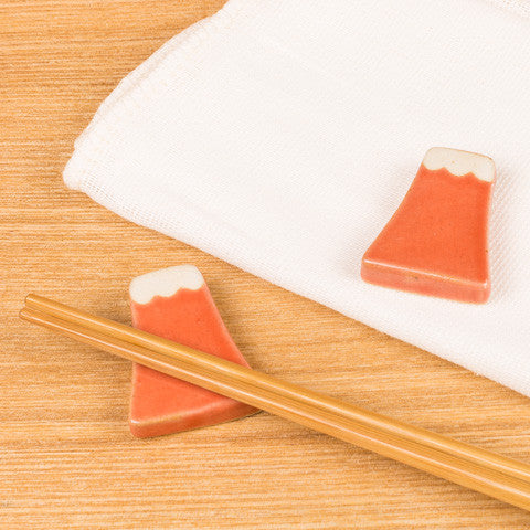 Red Mt. Fuji Chopstick Rests - Marimo Marshmallow Store