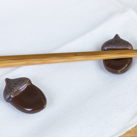 Acorn Chopstick Rests - Marimo Marshmallow Store