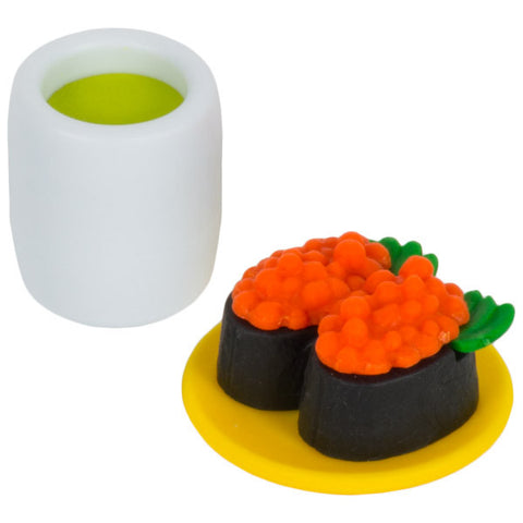 Ikura Sushi and Matcha Eraser