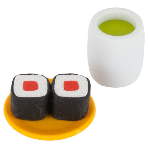 Tuna Sushi and Matcha Eraser