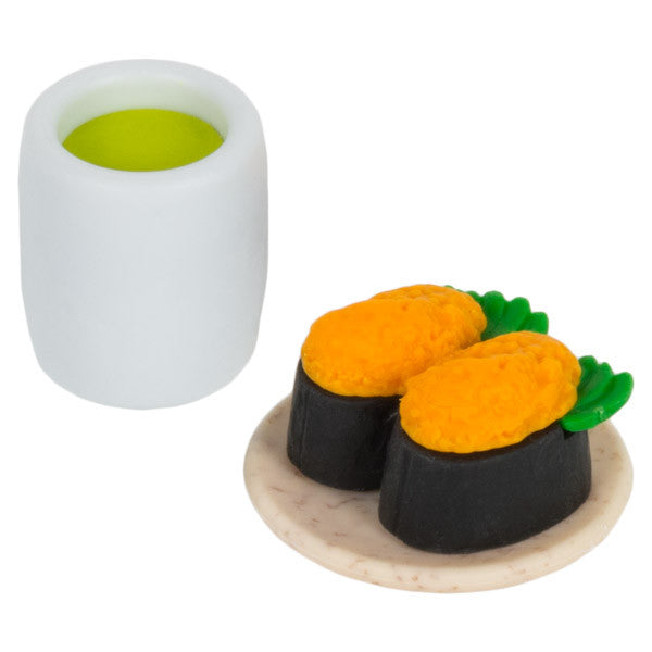 Uni Sushi and Matcha Eraser